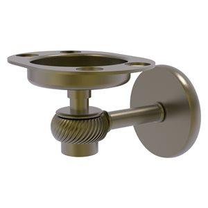 Allied Brass Satellite Orbit One Antique Brass Tumbler and Toothbrush Holder