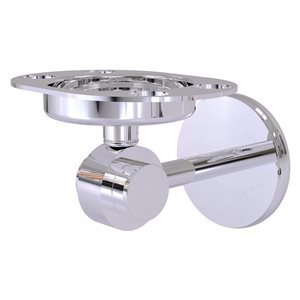 Allied Brass Satellite Orbit Two Brass Polished Chrome Tumbler and Toothbrush Holder