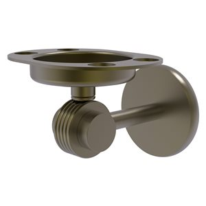 Allied Brass Satellite Orbit Two Antique Brass Wall-Mounted Tumbler and Toothbrush Holder