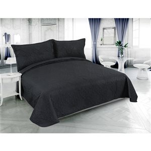 Marina Decoration Black Full/Queen Quilt Set - 3-Piece