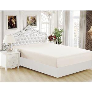 Marina Decoration King Ivory Polyester Bed Sheet