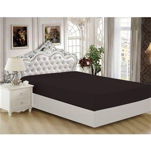 Marina Decoration Full Black Polyester Bed Sheet