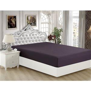 Marina Decoration Full Eggplant Polyester Bed Sheet
