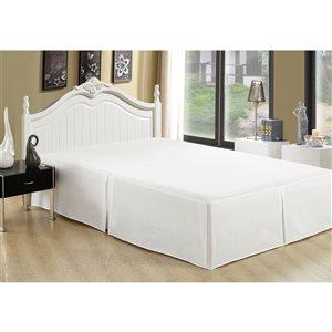 Cache-sommier Marina Decoration blanc pour grand lit