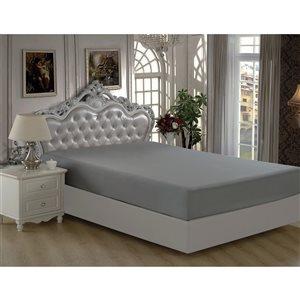 Marina Decoration Twin Grey Polyester Bed Sheet