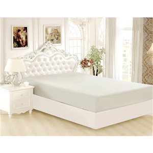 Marina Decoration Twin Silver Polyester Bed Sheet