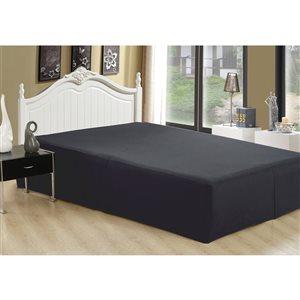 Cache-sommier Marina Decoration noir pour grand lit