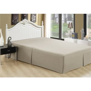 Marina Decoration Taupe Queen Bed Skirt