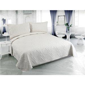 Marina Decoration Cream Full/Queen Quilt Set - 3-Piece