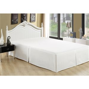 Cache-sommier Marina Decoration blanc pour très grand lit