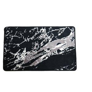 Tapis de baignoire en polyester par Nova Home Collection, 31 po x 20 po, noir