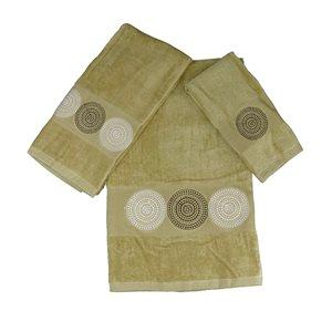 Serviette de bain en coton par Marina Decoration, brun, 3 mcx
