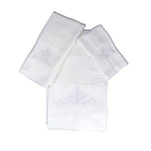 Serviette de bain en coton par Marina Decoration, blanc, 3 mcx