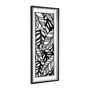 Boîte décorative peinte à la main Feuilles de palmier par Gild Design House avec cadre en plastique noir, 40po H x 16po L