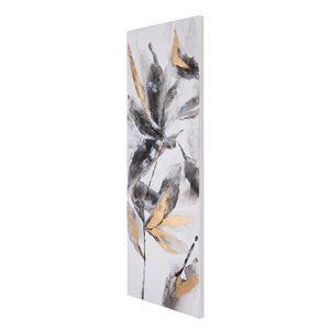 Toile peinte à la main Pétales opulents par Gild Design House sans cadre et thème botanique, 60po H x 20po L