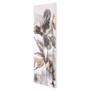 Toile peinte à la main Pétales opulents par Gild Design House sans cadre, 60po H x 20po L