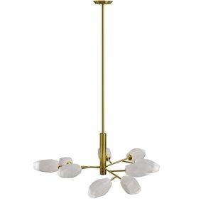 Luminaire de type chandelier Catalina par Gild Design House moderne contemporain de 9 lumières en laiton