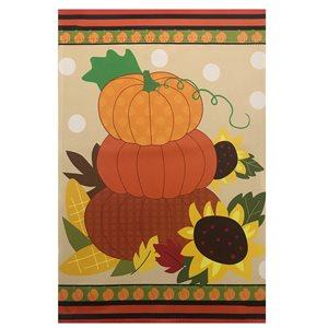 Northlight 28-in x 40-in Pumpkins and Sunflowers Autumn Harvest Garden Flag