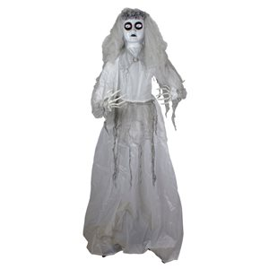 Northlight 6-ft Lighted and Animated Ghost Bride Halloween Decoration