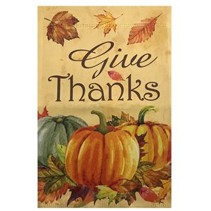 Northlight 28-in x 40-in Give Thanks Autumn Harvest Outdoor Garden Flag