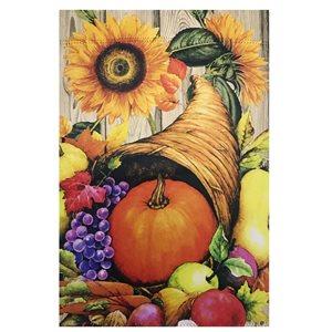 Northlight 28-in x 40-in Cornucopia and Flowers Autumn Harvest Outdoor Garden Flag