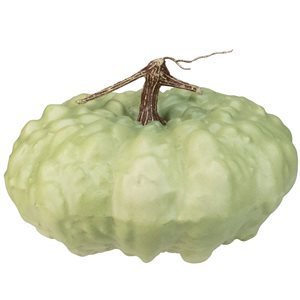 Northlight 6.5-in H Green Painted Plastic Craft Pumpkin
