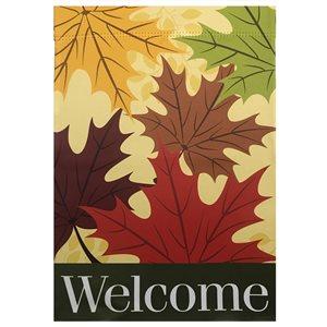 Northlight 12.5-in x 18-in Welcome Autumn Harvest Outdoor Garden Flag