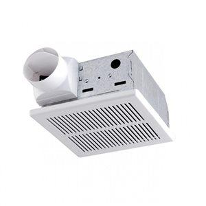 American Imaginations 3-Sone 50 CFM White Bathroom Fan Energy Star Certified