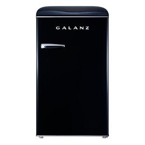 Galanz Retro 3.5-cu ft Freestanding Mini Fridge with Freezer Compartment in Black