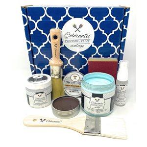 Colorantic 8-oz. Ocean Blue Chalk-Based Paint Kit - 7-Piece