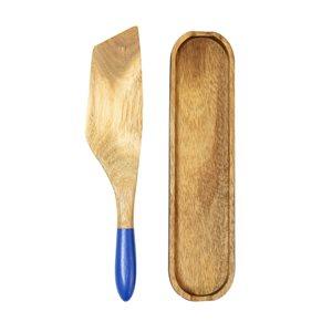 Ensemble de spurtle brun et bleu par Mad Hungry, 2 pièces