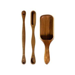 Ensemble de cuillères à mesurer brun par Mad Hungry, 3 pièces