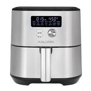 Friteuse à air chaud MAXX par Kalorik en acier inoxydable de 6,62 L (1,46 gal)