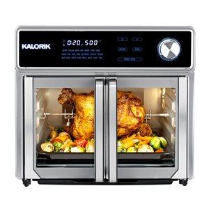 Four friteuse à air chaud numérique MAXX par Kalorik en acier inoxydable de 24,6 L (5,41 gal)