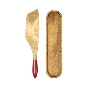 Ensemble de spurtle brun et rouge par Mad Hungry, 2 pièces