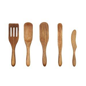 Ensemble de spurtle brun par Mad Hungry, 5 pièces