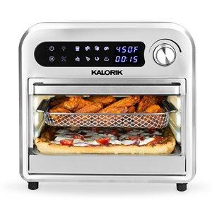 Four friteuse à air chaud par Kalorik en acier inoxydable de 11,92 L (2,62 gal)