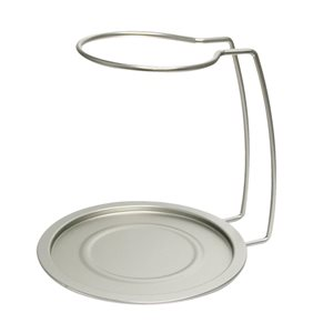 Epicureanist Silver Metal Decanter Drying Rack and Tray