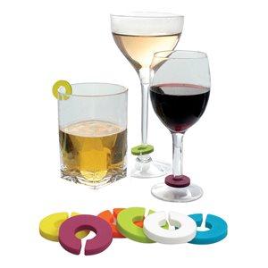Epicureanist Multicolour Wine Glass Charms