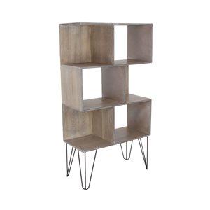 Grayson Lane12-in D x26-in W x47-in H3-Tier Decorative Wood Shelves