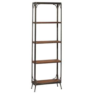 Grayson Lane10-in D x23.5-in W x71-in H5-Tier Decorative Wood Shelves