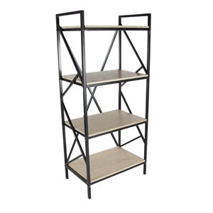Grayson Lane15-in D x25-in W x56-in H4-Tier Decorative Wood Shelves