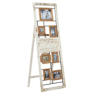 Grayson Lane Vintage Brown Wood Wall Photo Frame with White Distressed Finish (4-in x6-in)