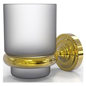Allied Brass Dottingham Polished Brass Brass Tumbler and Toothbrush Holder