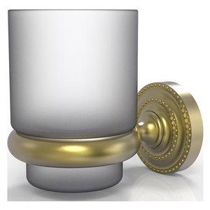 Allied Brass Dottingham Satin Brass Brass Tumbler and Toothbrush Holder