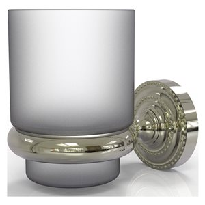 Allied Brass Dottingham Polished Nickel Brass Tumbler and Toothbrush Holder
