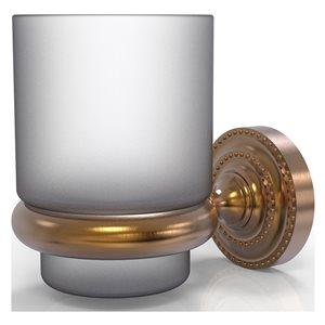 Allied Brass Dottingham Brushed Bronze Brass Tumbler and Toothbrush Holder