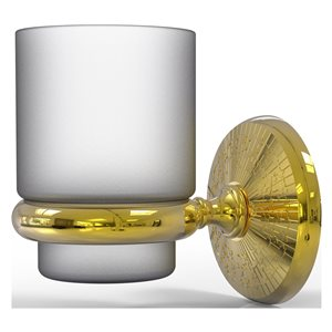 Allied Brass Monte Carlo Polished Brass Wall Mount Tumbler Holder