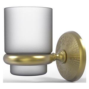 Allied Brass Monte Carlo Satin Brass Wall Mount Tumbler Holder
