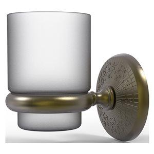 Allied Brass Monte Carlo Antique Brass Wall Mount Tumbler Holder